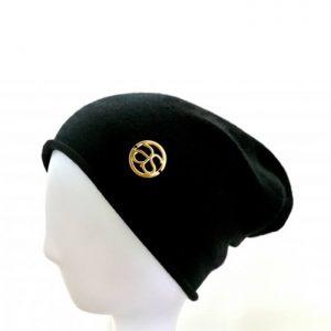 MÉRIBEL 100% Kaschmir Beanie Mütze schwarz