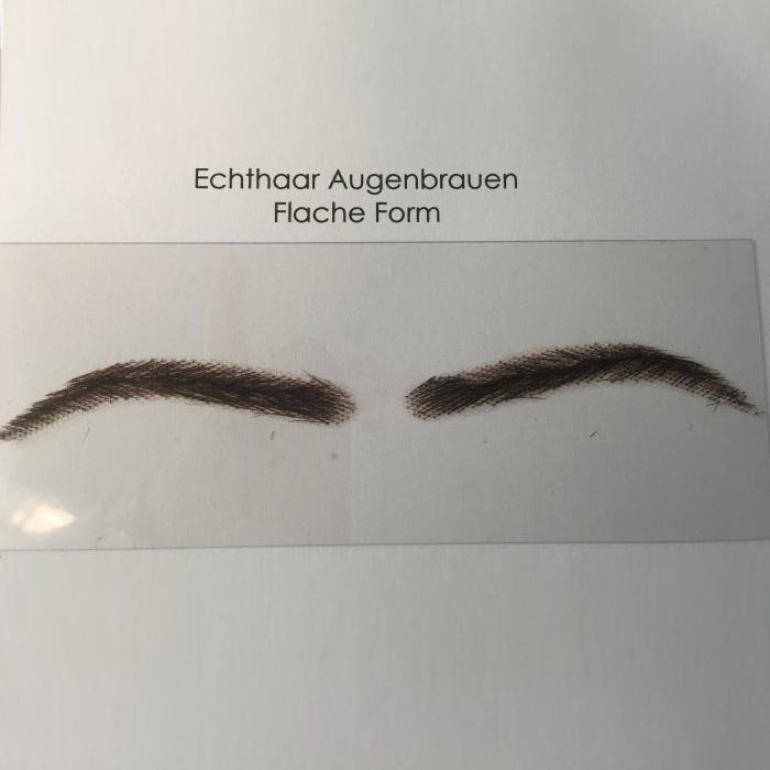 Flache Augenbrauen Echthaar
