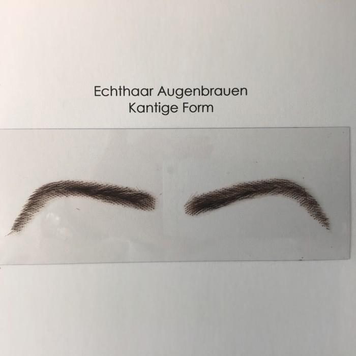 Kantige Augenbrauen Echthaar, Augenbrauen Echthaar